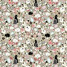 pattern of funny cats and clouds by Tanor