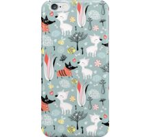 funny pattern of lovers dogs iPhone Case/Skin