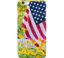 Flag in Flowers iPhone Case/Skin