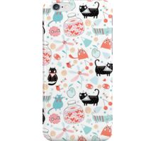 pattern of funny cats in love iPhone Case/Skin