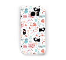 pattern of funny cats in love Samsung Galaxy Case/Skin