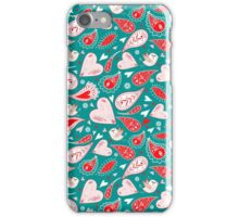 funny pattern of different hearts iPhone Case/Skin