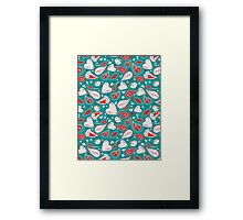 funny pattern of different hearts Framed Print