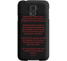 Ezekial 25:17 (Old English Black and Red) Samsung Galaxy Case/Skin