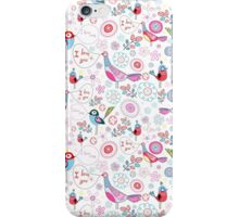 funny pattern of talking birds iPhone Case/Skin