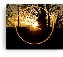 Sunset Though the Kitchen Window Canvas Print