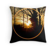 Sunset Though the Kitchen Window Throw Pillow