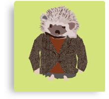 Hedgehog in Herringbone Jacket Canvas Print