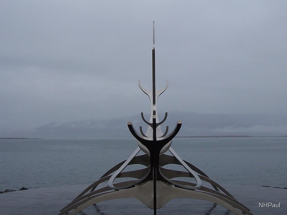 Sólfar (Sun Voyager) Viking Ship Sculpture by NHPaul