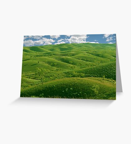 Hilly Landscape Greeting Card