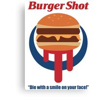 Burger Shot Canvas Print