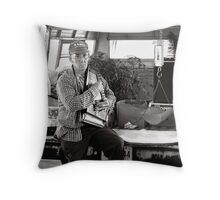 Autoharp Player, Farmer's Market-McMinnville, Tennessee Throw Pillow