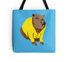 Capybara in a Cardigan Tote Bag