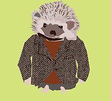 Hedgehog in Herringbone Jacket by nycgallerygirl