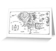 Middle Earth, black and white Greeting Card