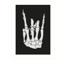 Skeleton hand | White Art Print