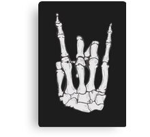 Skeleton hand | White Canvas Print