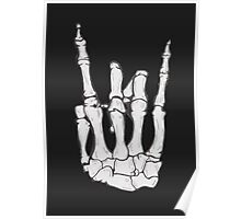 Skeleton hand | White Poster