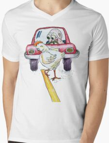 Chicken Dance Mens V-Neck T-Shirt