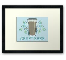 Craft Beer Framed Print