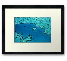 Heart Reef  Framed Print