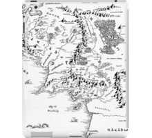 Middle Earth, black and white iPad Case/Skin