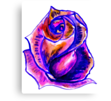 Colorful Painted Rose 2 Canvas Print
