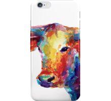 Colorful Texas Longhorn watercolor painting Svetlana Novikova iPhone Case/Skin