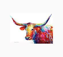 Colorful Texas Longhorn watercolor painting Svetlana Novikova Unisex T-Shirt