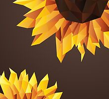 Polygonal Sunflower by AlexGDavis