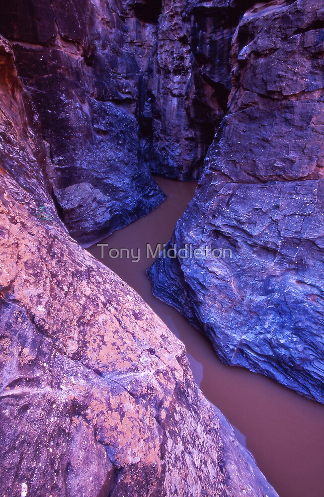 outback gorge.. by Tony Middleton