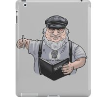 grr martin death note iPad Case/Skin