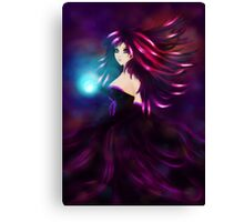 Girl with magic ball Canvas Print
