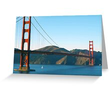 Golden Gate Bridge Art Greeting Card