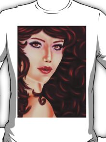 Woman with curly red hair T-Shirt