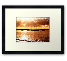 sailing the morning  Framed Print