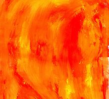 Orange Paint Background by AnnArtshock