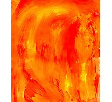 Orange Paint Background Photographic Print