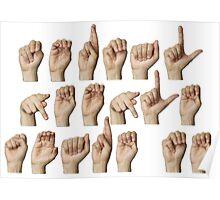 Normal people scare me - fingerspelled in ASL Poster