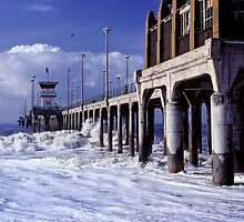 Huntington Beach Pier, Long Ago by Mark Ramstead