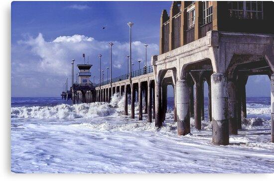Huntington Beach Pier, Long Ago by Mark Ramstead