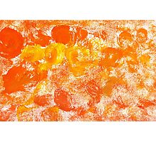 Orange Paint Background 5 Photographic Print