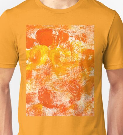 Orange Paint Background 5 Unisex T-Shirt