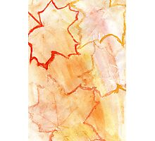 Orange Paint Background 8 Photographic Print
