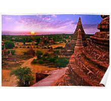 Sunrise over Bagan Poster
