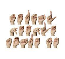 Normal people scare me - fingerspelled in ASL by sandraklasson