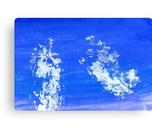 Painted Blue Texture Canvas Print
