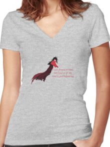 Time of Vincent Women's Fitted V-Neck T-Shirt