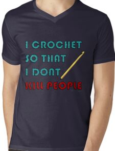 I Crochet Mens V-Neck T-Shirt