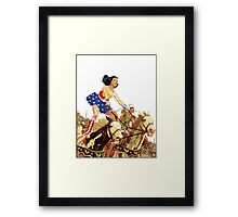 Wonder Woman on Horseback Framed Print